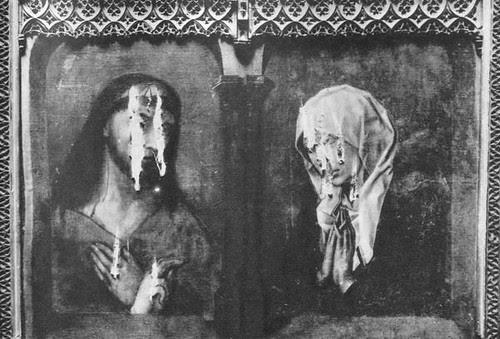 lienzo de Van der Weyden destrozado en la Guerra Civil en el Museo provincial de Toledo