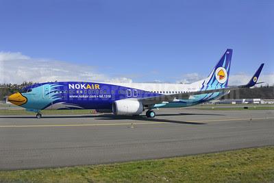 Nok Air Boeing 737-8FZ WL HS-DBP (msn 39336) BFI (Steve Bailey). Image: 922757.
