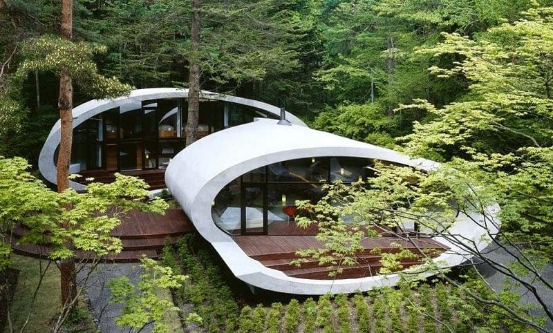 Japanese Shell Visually Stunning Homes