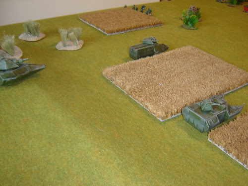 Patrol moves through fields