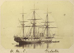 StateLibQld 1 254247 Three masted sailing ship H.M.S. Galatea, ca. 1868.jpg