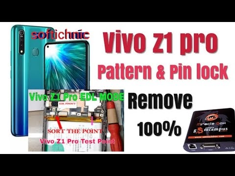 How to vivo z1 pro unlock screen lock pin format miracle box done by softichnic