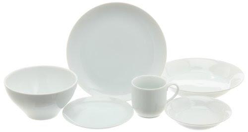 エムズスタイル ホワイトライン洋食器セット(1人用) MS-50106