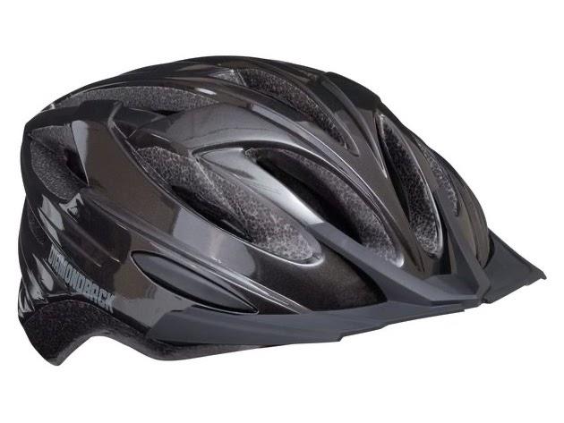 Diamondback Recoil Mountain Bike Helmet Fits heads 52-56cm, Large - Gloss Black (New) for $69