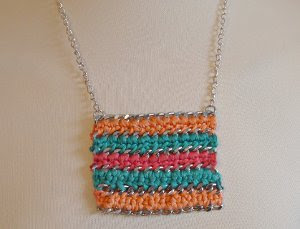 Chain and Crochet Statement Necklace