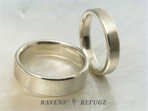 handmade white gold wedding bands ? simple wedding rings