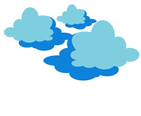 vector clouds png transparent  background image