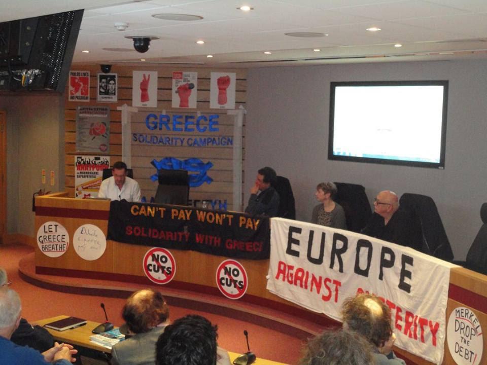 Greece Solidarity Campaign Pre-Election Briefing in London