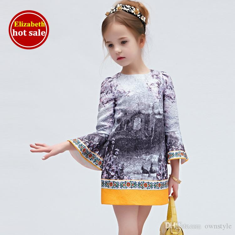 2017 wlmonsoon baby clothes designer girls dresses elegant