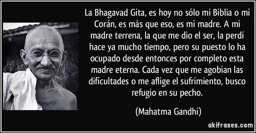 Bhagavad Gita de acuerdo a Gandhi