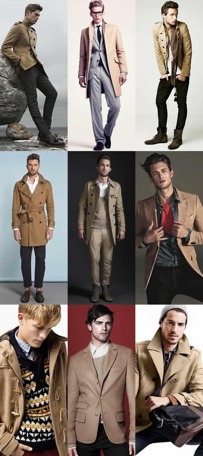 Men's Camel Jackets & Coats Lookbook