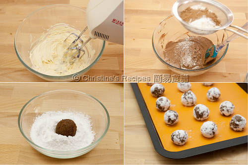 Chocolate Crackle Cookies Procedures