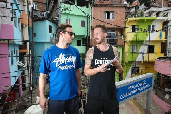 Favela v novih barvah, umetnika