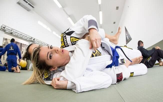 Nair em um de seus treinos de jiu-jitsu