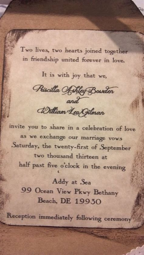 Rustic Wedding Invitation Country Chic Invitations by