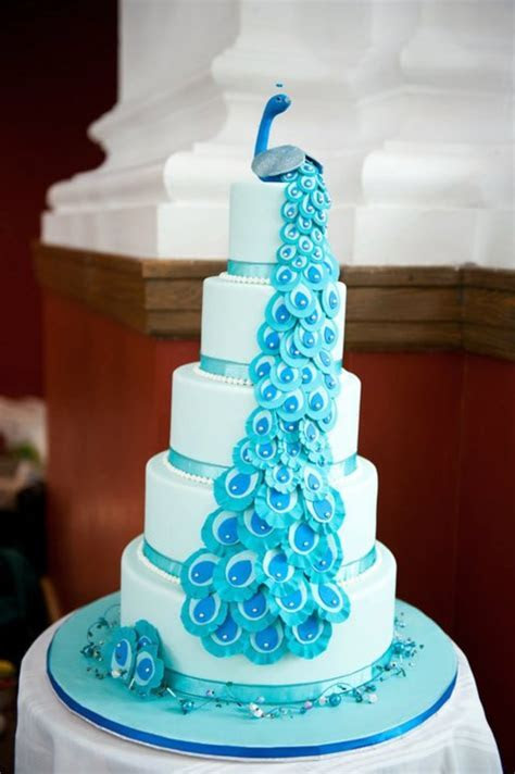 Peacock Themed Cake   CakeCentral.com