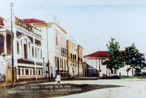 O último sobrado e onde morava Ary com sua avó Gabriela e com a tia Ritinha. Ubá - Minas Gerais