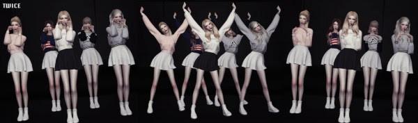 Câmara de Flores: Kpop Girls Grupos Dance Postures Set V.1