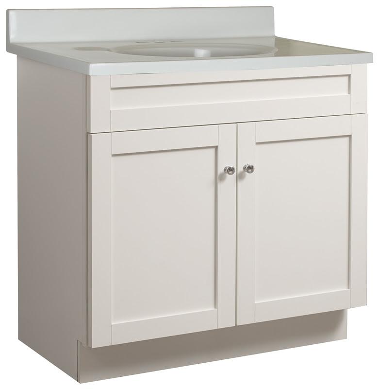 Bathroom Vanity 30 Inch X 18 Inch X 34 Inch High 2 Door With Top White Bathroom Vanities Cabinets The Home Improvement Outlet