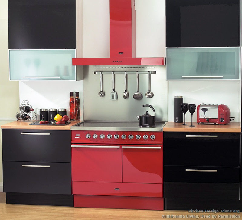 Red And Black Kitchen Decorating Ideas Home Design And Decor Reviews
