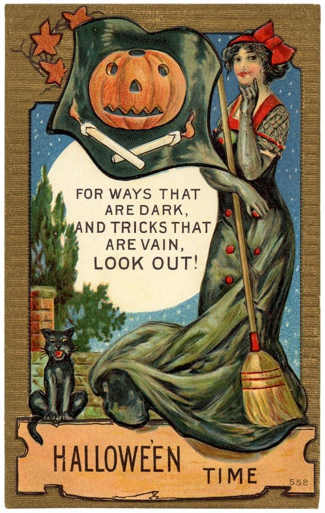 Vintage Halloween Postcard Image