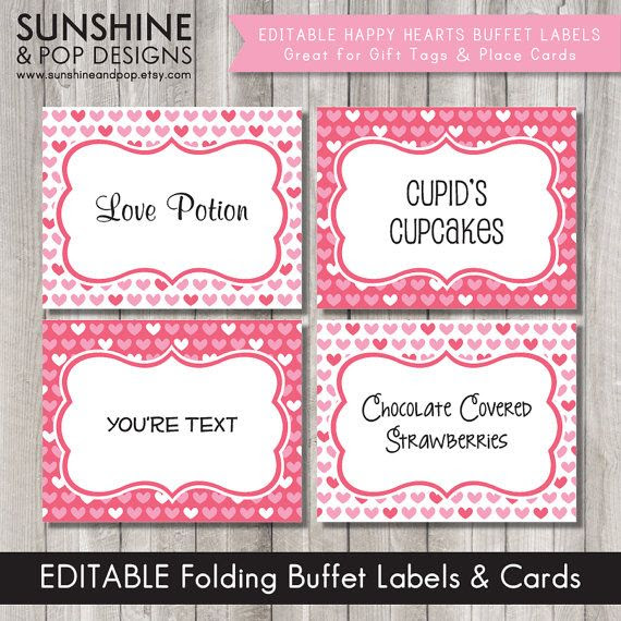 1000+ images about buffet label on Pinterest | Party printables ...