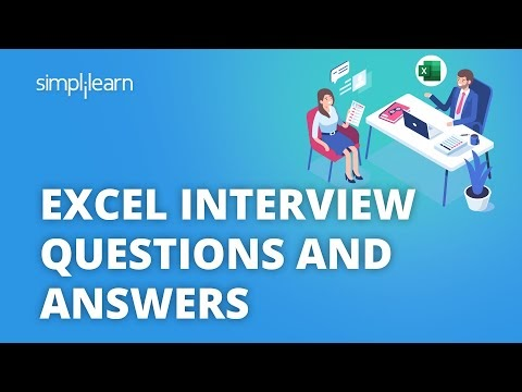 Excel Interview Questions And Answers | Top Excel Questions Asked In Interviews | Simplilearn