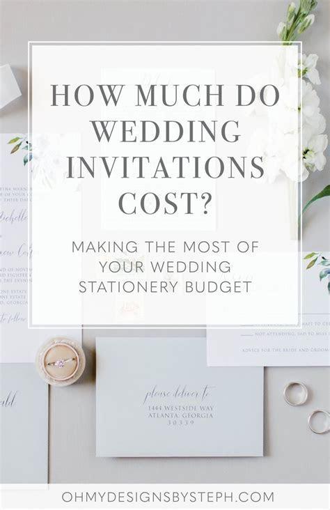 How Much do Wedding Invitations Cost   Wedding Ideas