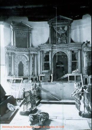 Destrozos en el Convento de la Concepción, Toledo.