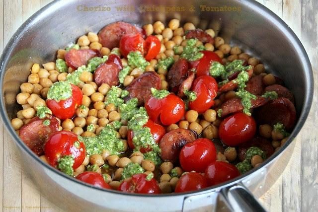 Chorizo with Chickpeas & Tomatoes 2