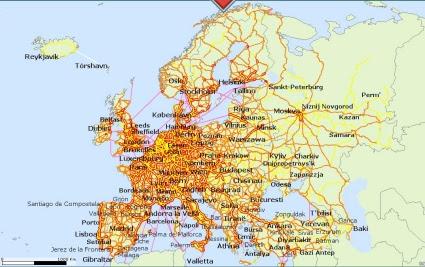 europa kart byer Billige byer i europa hjerterom gaver og interiør europa kart byer