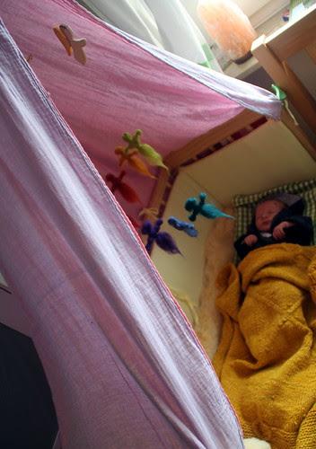 where she sleeps.