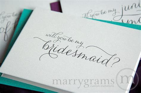 Wedding Card Shop Will You Be My Bridesmaid Card Thin Style