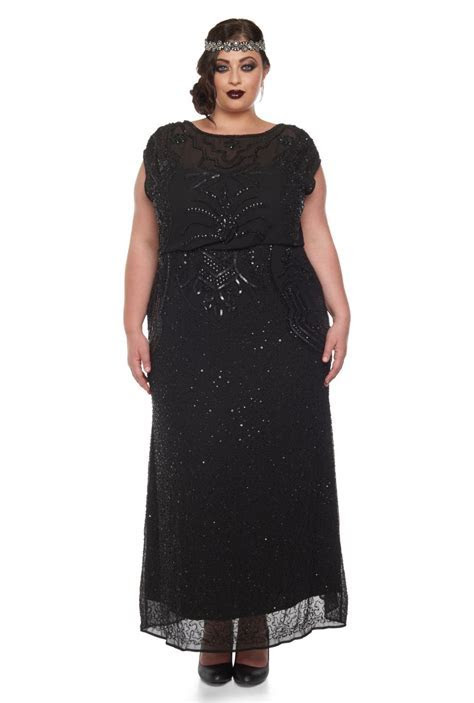US22 UK26 AUS26 EU54 Plus Size Isla Black Prom Maxi Dress