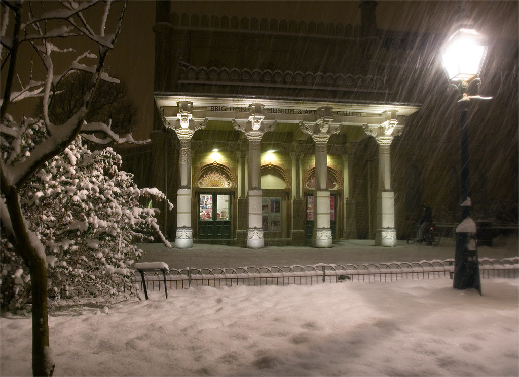 Brighton Museum and Art Gallery in Snow