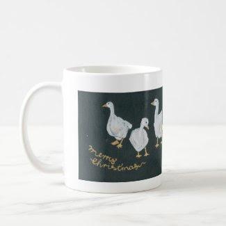 Christmas Geese Coffee Mug mug