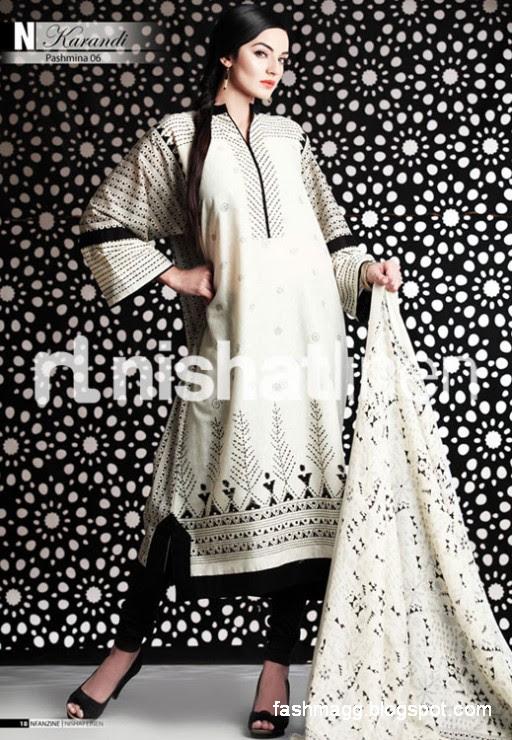 Nishat-Linen-Winter-Dresses-Collection-2013-Nishat-Linen-Fancy-Frocks-Shalwar-Kamiz-3