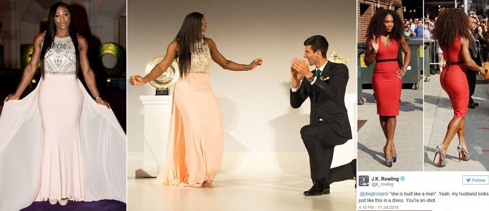 Serena Williams wows at Wimbledon champions' dinner alongside Novak Djokovic