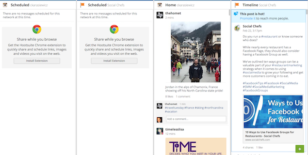 Hootsuite - Dashboard