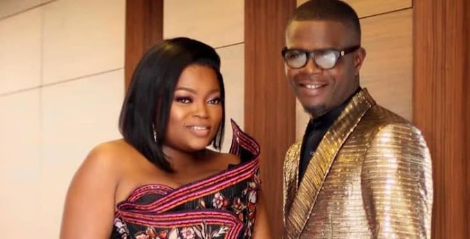 Funke Akindele and her husband react after Nigerians blast them for throwing party during lockdown