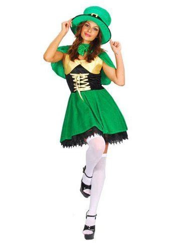 St Patrick's Lady Leprechaun   Adult Costume   Party Delights
