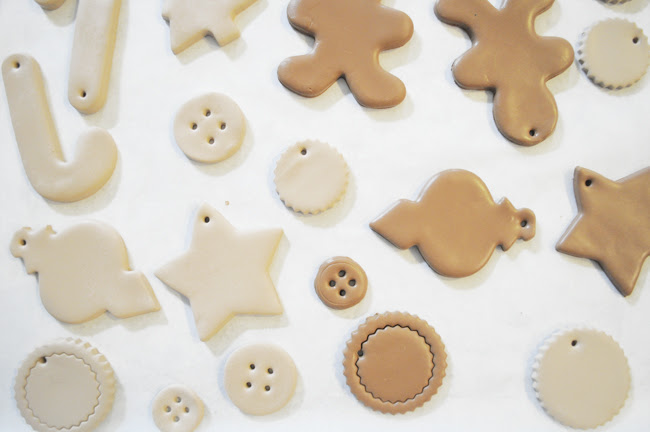 faux cookie ornaments (2010)