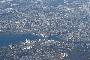 New Haven, Connecticut viewed from an airplane...