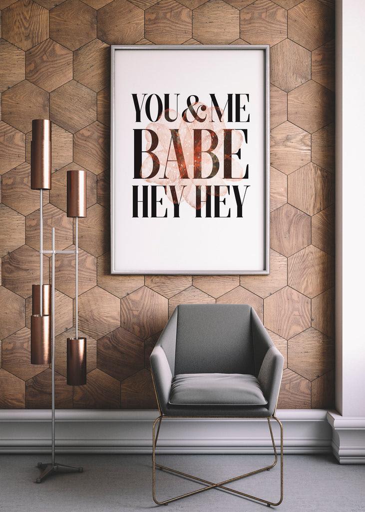 You Me Printable Art Modern Bedroom Decor Little Gold Pixel
