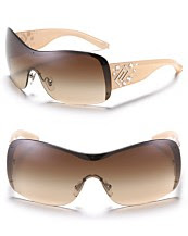 Versace Shield Sunglasses with Crystal Detail