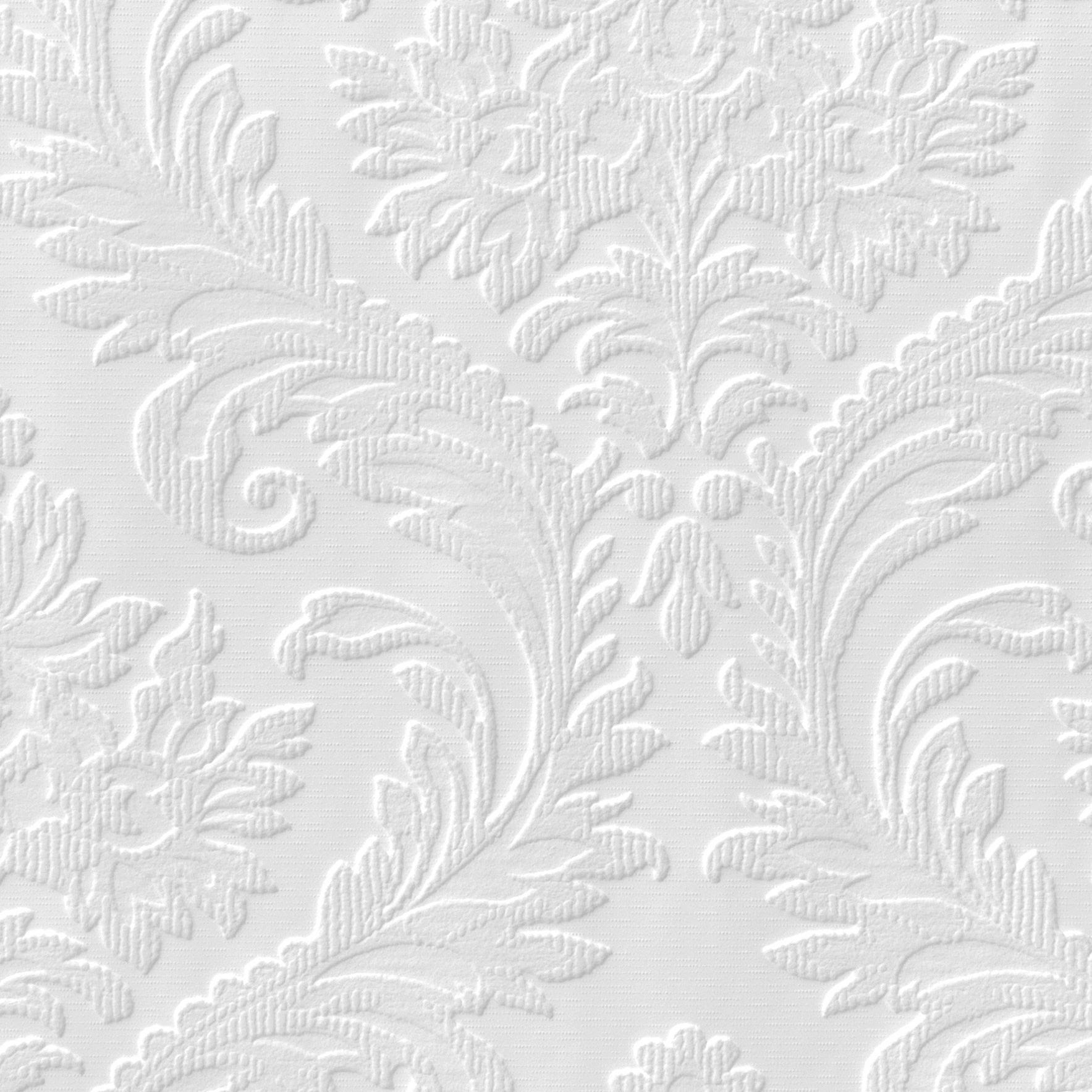 Anaglypta Luxury White High traditional Textured Paintable ...
