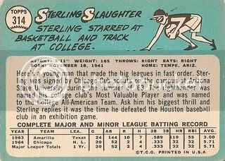 #314 Sterling Slaughter (back)