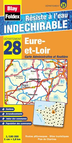 Carte Eure Et Loir Carte Routière Eure Et Loir