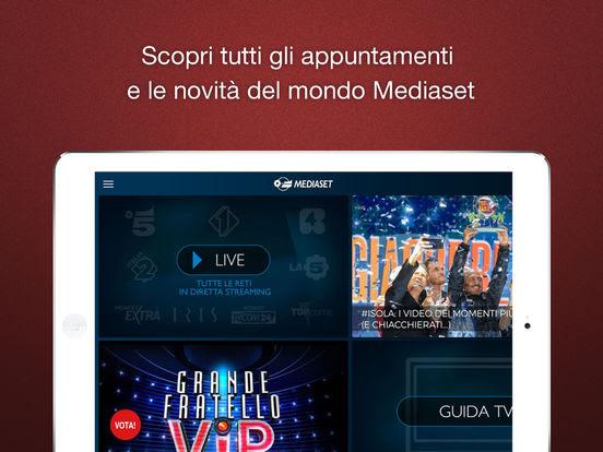 Mediaset, l'app si aggiorna alla vers 4.2.7