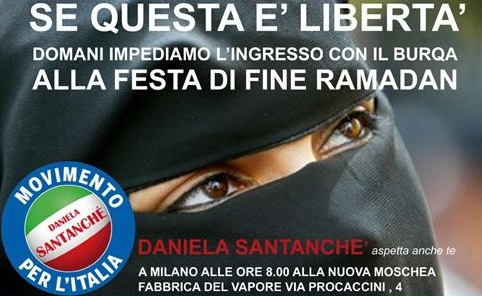 Daniela-Santanchè-anti-burqa-protest